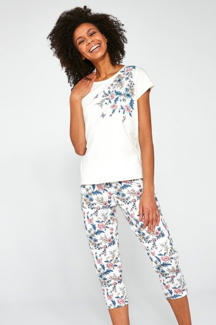 Dámské bavlněné pyžamo s krátkým rukávem Cornette 670/200 Sophie.100 – kopie (7)