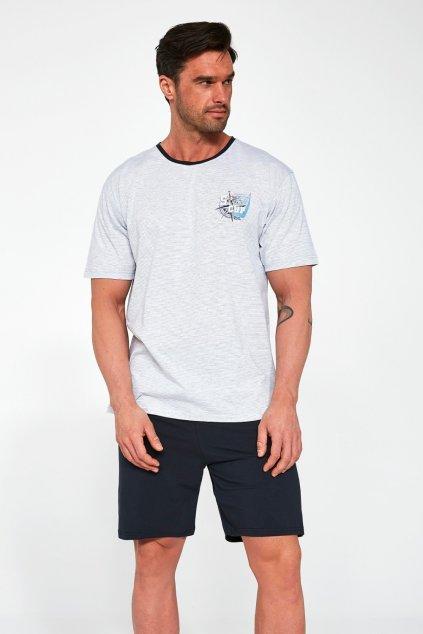 Pánské bavlněné pyžamo s krátkým rukávem Cornette471/110 Sailing Cup