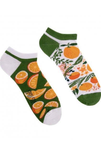 Veselé kotníkové ponožky Spox Sox pomeranče