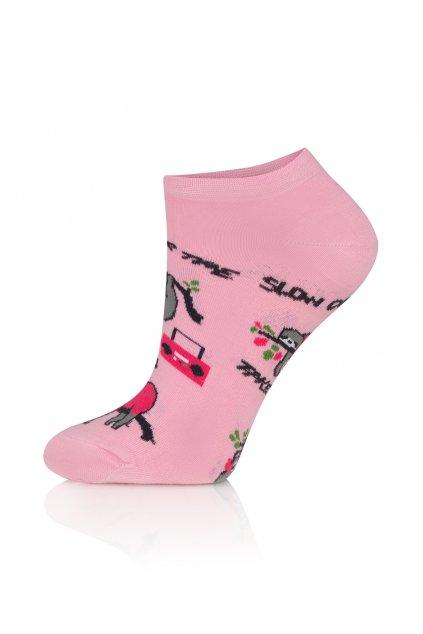 Veselé dámské kotníkové ponožky Gee One S 119 S Lenochod.