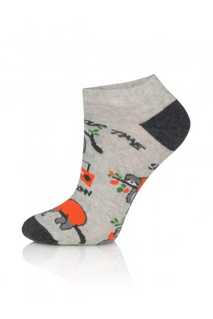 Veselé pánské kotníkové ponožky Gee One S 119 S Lenochod.
