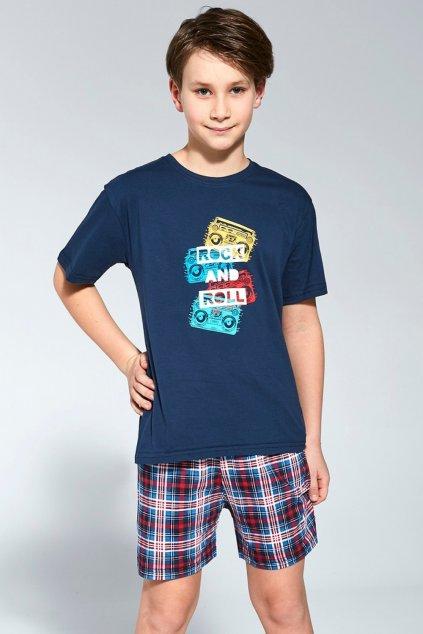 Chlapecké bavlněné pyžamo s krátkým rukávem Cornette 790/91 Rock.