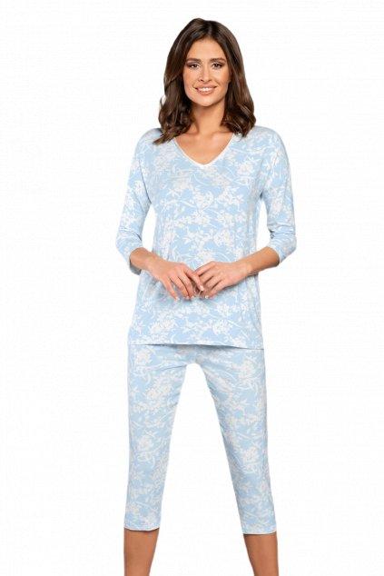 Dámské bavlněné pyžamo s 3/4 rukávem Italian Fashion Bryza