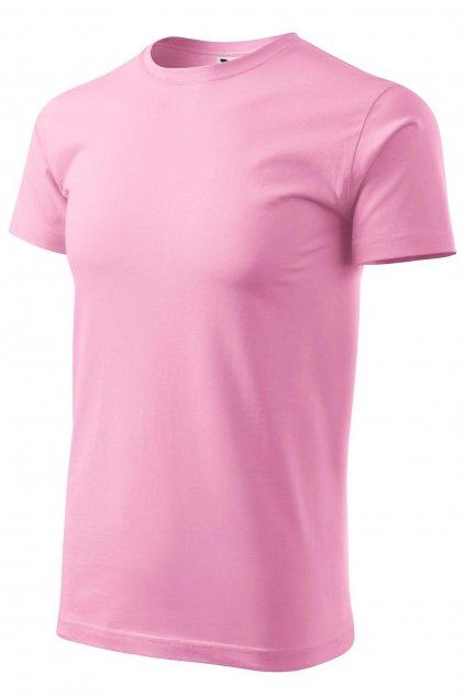 Pánské růžové tričko s krátkým rukávem MF 129/30