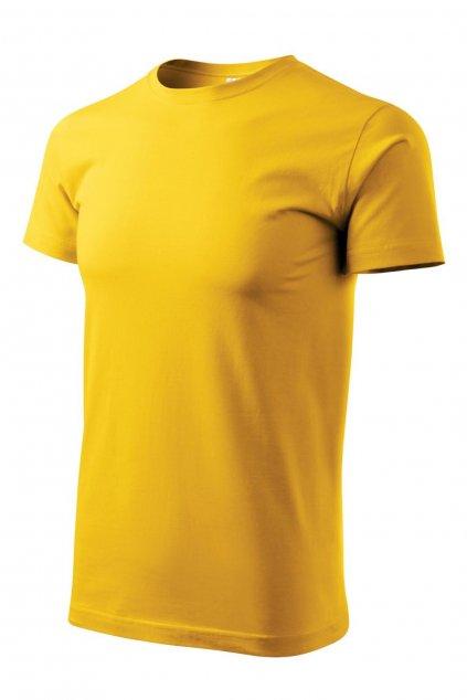 Pánské žluté triko krátký rukáv MF 129/04