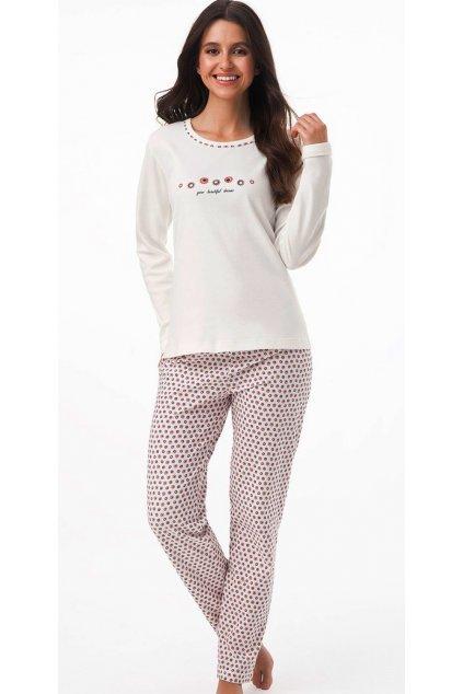 Dámské pyžamo Luna 404 ecru