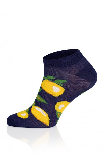 Veselé pánské kotníkové ponožky Gee One S 117 S Lemon granat.