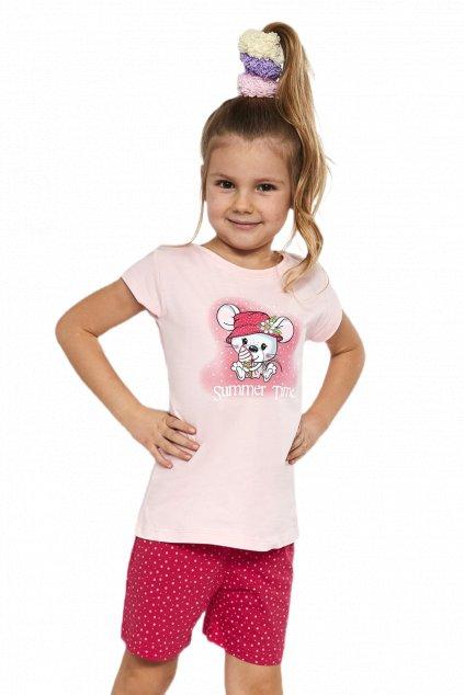 bavlněné dívčí pyžamoCornette 787/85 Little mouse