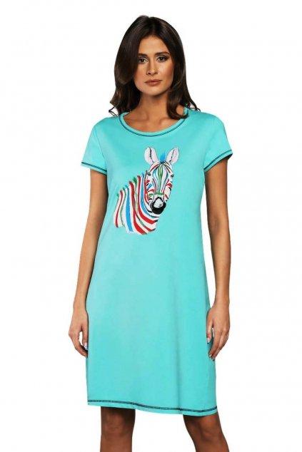 Dámská bavlněná noční košile s krátkým rukávem Italian Fashion Afrika.