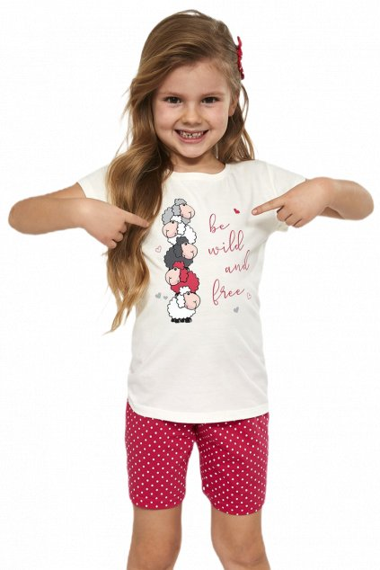 bavlněné dětské pyžamo s krátkým rukávem Cornette787/82 Be wild