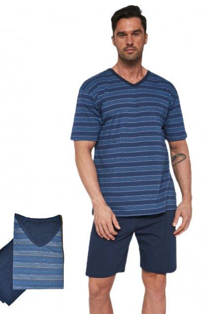 Pánské bavlněné pyžamo s krátkým rukávem Cornette330/13 Various