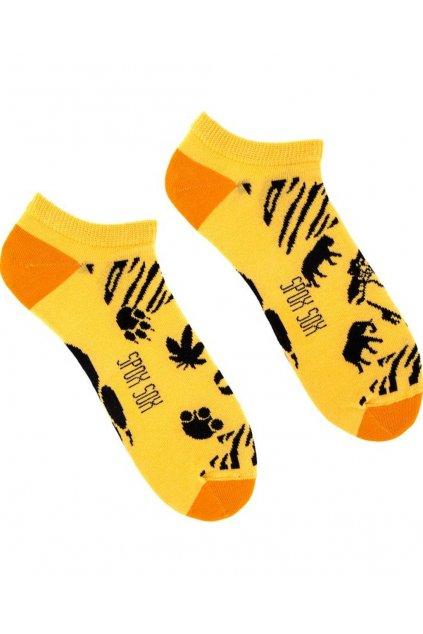 Veselé kotníkové ponožky Spox Sox Safari.