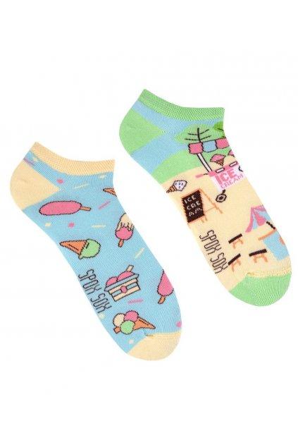 Veselé kotníkové ponožky Spox Sox Zmrzka.