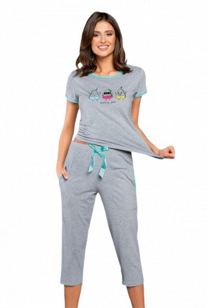 Dámské bavlněné pyžamo s krátkým rukávem Italian FashionTabata