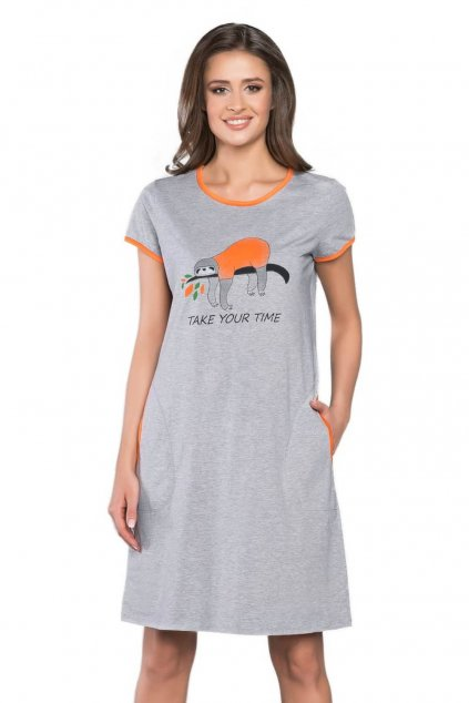Dámská bavlněná noční košile s krátkým rukávem Italian Fashion Lalima.