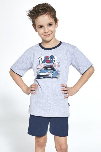 Chlapecké bavlněné pyžamo s krátkým rukávem Cornette 473/89 Police.