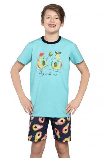 Chlapecké bavlněné pyžamo s krátkým rukávem Italian Fashion Avocado.
