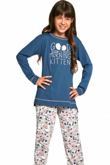 Dívčí bavlněné pyžamo s dlouhým rukávem Cornette103/89 Good morning