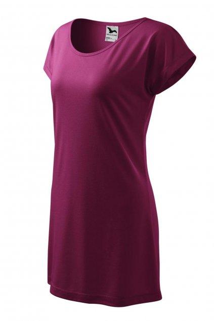 Dámské fialové letní šaty z viskózy MF 123/43.