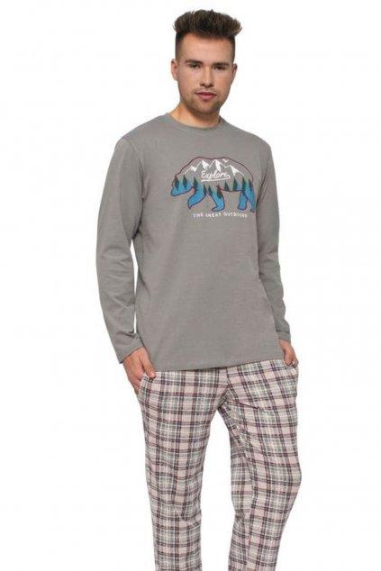 pánské bavlněné pyžamo s dlouhým rukávem Leptir 502/01.