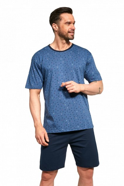 Pánské modré pyžamo Cornette 323/116 Jim