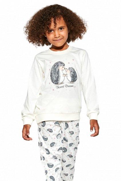 Dívčí bavlněné pyžamo s dlouhým rukávem Cornette978/142 Forest Dream