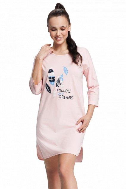 Dámská bavlněná noční košile s 3/4 rukávem Luna 12.