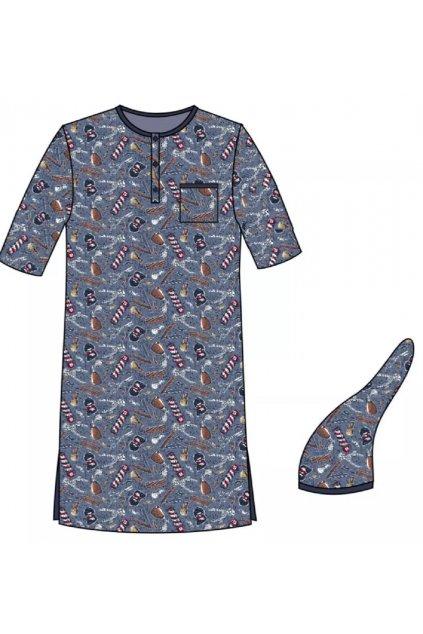 Pánská noční košile s krátkým rukávem Cornette 109/07.