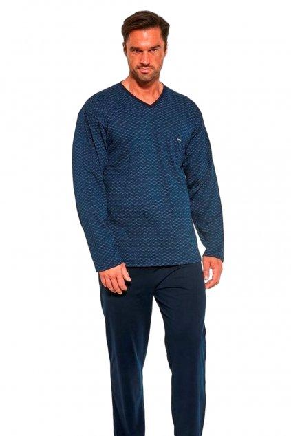 Pánské bavlněné pyžamo s dlouhým rukávem Cornette 310/189 Bill.