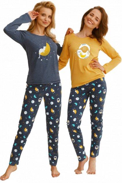 Dámské žluté pyžamo s dlouhým rukávem TaroSarah 2579