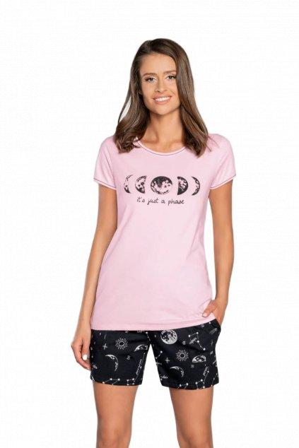 Dámské růžové pyžamo s krátkým rukávem Italian Fashion Umbra