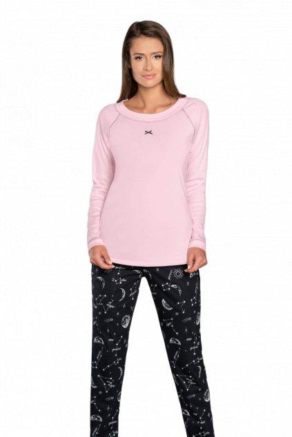 Dámské pyžamo růžové dlouhé Italian Fashion Umbra