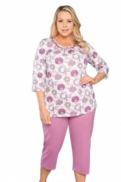 Dámské bavlněné pyžamo s krátkým rukávem Italian FashionLobelia