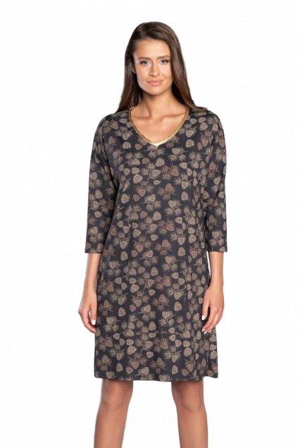 Dámská viskózová noční košile s 3/4 rukávem Italian Fashion Pinnia.