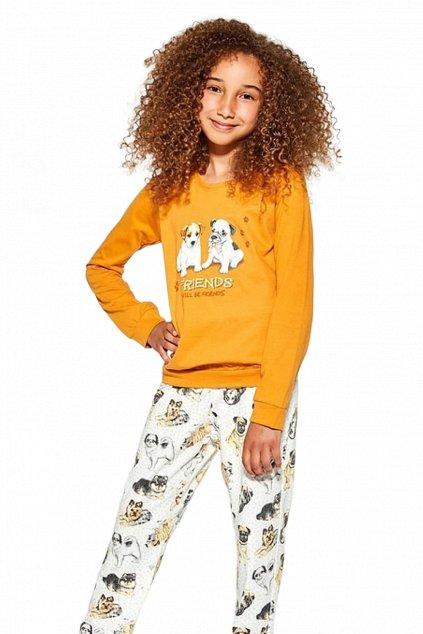 Dívčí pyžamo s dlouhým rukávem Cornette 592-594/145 Dogs