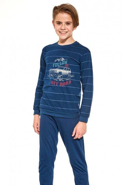 Chlapecké pyžamo s dlouhým rukávem Cornette 478/124 Follow me.