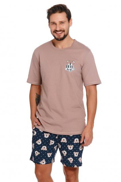 Pánské pyžamo kratké Doctor Nap 4245 Beige