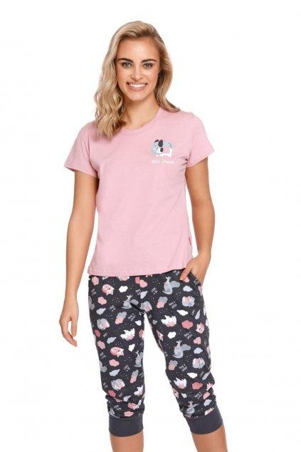Dámské pyžamo krátké Doctor Nap 4218 Sweet Pink