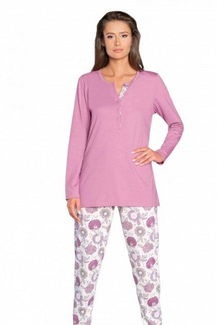 Dámské pyžamo dlouhé Italian Fashion Gazania pink