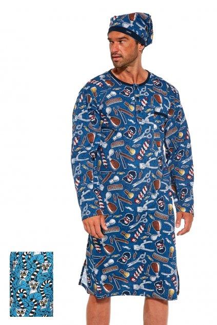 Pánská noční košile s dl.rukávem Cornette 110 lemur