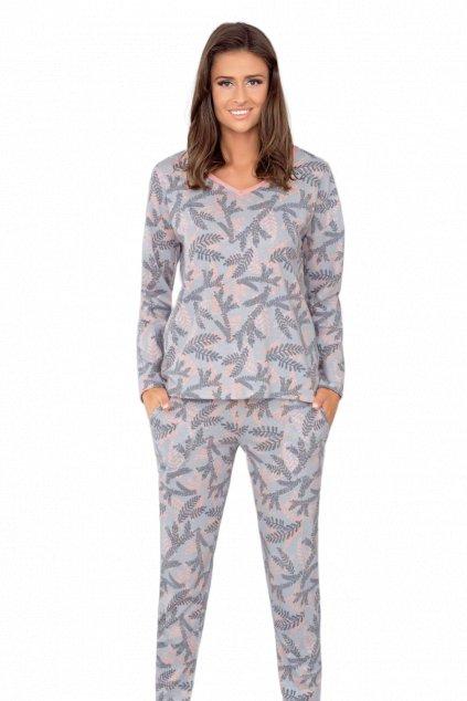 Dámské bavlněné pyžamo s dlouhým rukávem Italian Fashion Asarina.