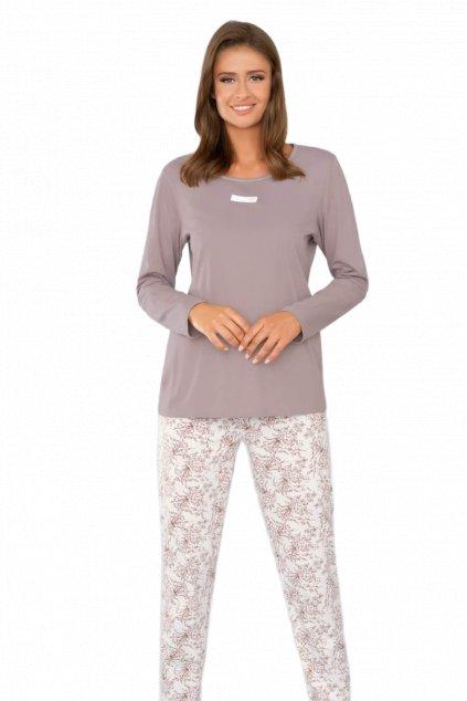 Dámské bavlněné pyžamo s dlouhým rukávem Italian Fashion Tycja.