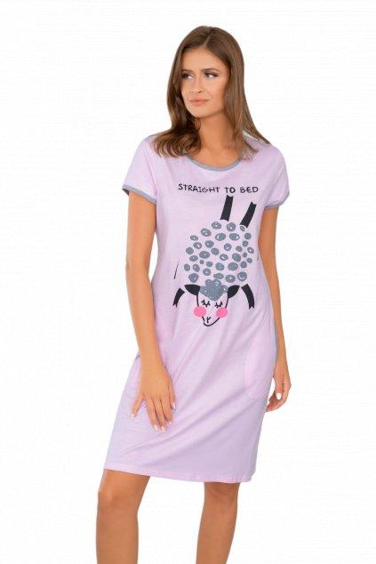 Dámská bavlněná noční košile s krátkým rukávem Italian Fashion Pecora.