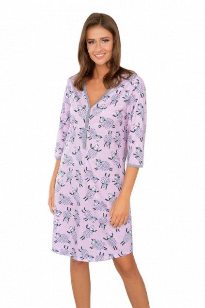 Dámská bavlněná noční košile s 3/4 rukávem Italian Fashion Pecora.