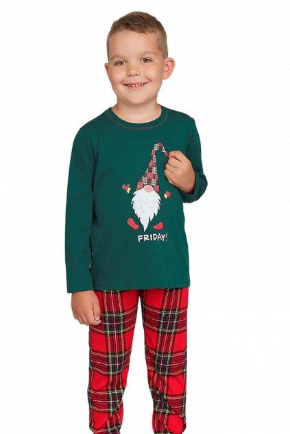 Chlapecké bavlněné pyžamo s dlouhým rukávem Italian Fashion Narwik.