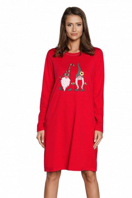 Dámská bavlněná noční košile s dlouhým rukávem Italian Fashion Santa.