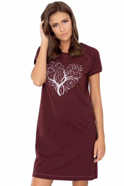 Dámská bavlněná noční košile s krátkým rukávem Italian Fashion Hosta.