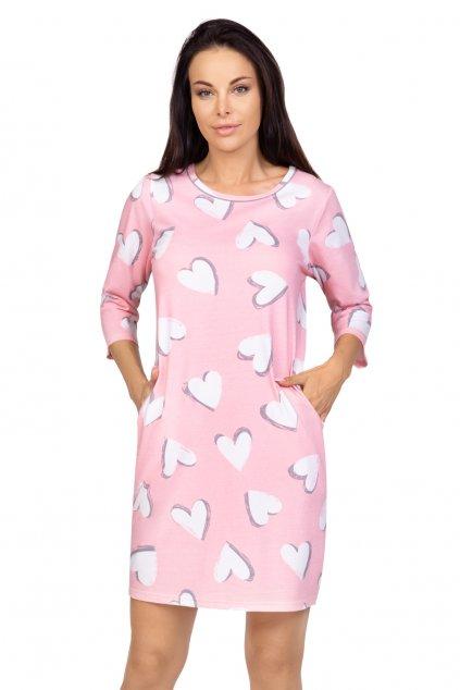 Dámská bavlněná noční košile s 3/4 rukávem Regina 398.