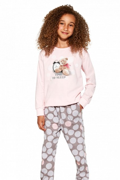 Dívčí pyžamo dlouhé Cornette 994-995/139 Time to Sleep