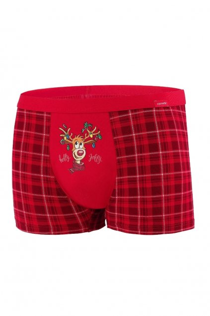 Vánoční pánské boxerky Cornette 007/62 Rudolph.